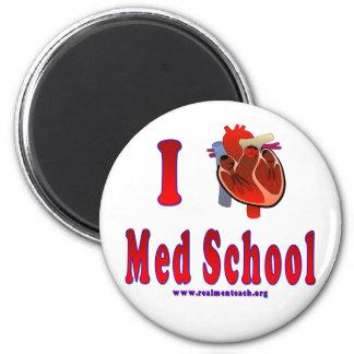 Amo la escuela del MED Imán Redondo 5 Cm