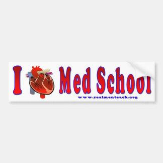 Amo la escuela del MED Pegatina Para Auto