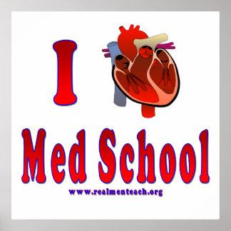 Amo la escuela del MED Póster