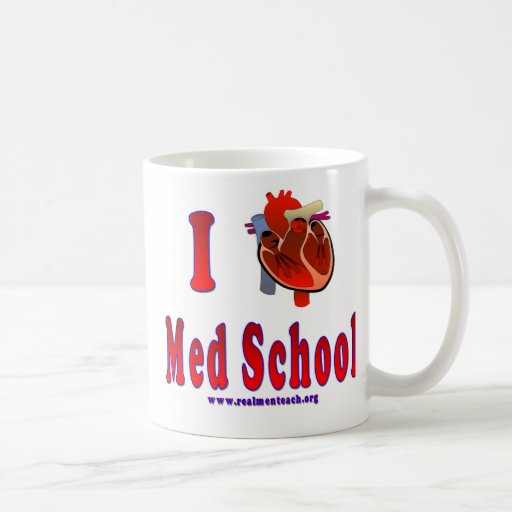 Amo la escuela del MED Tazas De Café