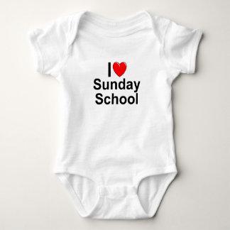 Amo la escuela dominical (del corazón) body para bebé