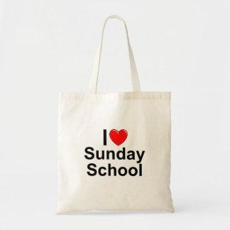 Amo la escuela dominical (del corazón) bolsa tela barata