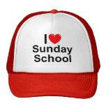 Amo la escuela dominical (del corazón) gorra