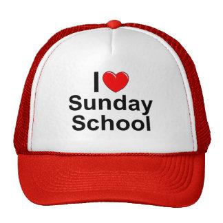 Amo la escuela dominical (del corazón) gorras