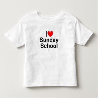 Amo la escuela dominical (del corazón) playera de bebé