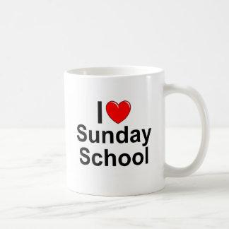 Amo la escuela dominical (del corazón) taza de café
