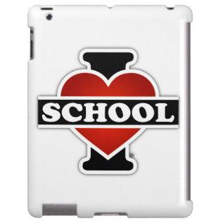 Amo la escuela funda para iPad