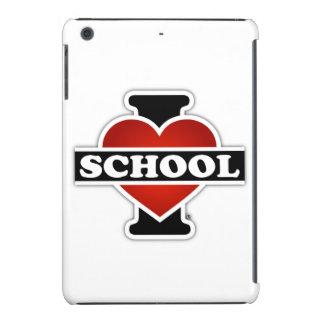 Amo la escuela fundas de iPad mini