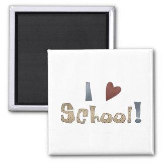 Amo la escuela imanes de nevera