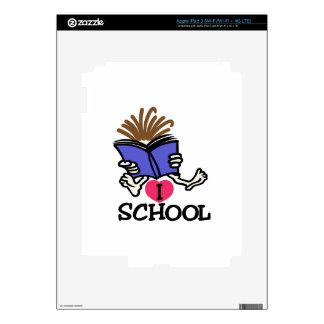 Amo la escuela iPad 3 pegatina skin