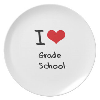 Amo la escuela primaria plato