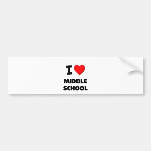 Amo la escuela secundaria pegatina de parachoque