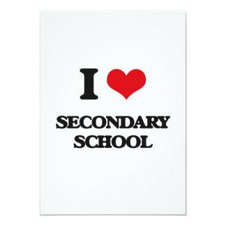 Amo la escuela secundaria invitación 12,7 x 17,8 cm