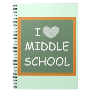 Amo la escuela secundaria note book