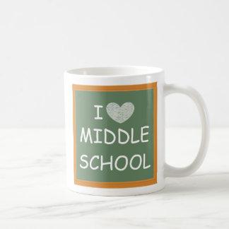 Amo la escuela secundaria taza de café