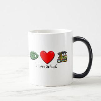 Amo la escuela taza mágica