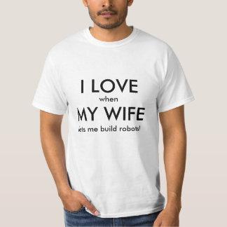 Amo la esposa/los robots remera