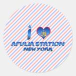 Amo la estación de Apulia, Nueva York Etiqueta