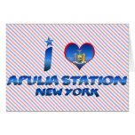 Amo la estación de Apulia, Nueva York Felicitacion