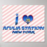 Amo la estación de Apulia, Nueva York Impresiones