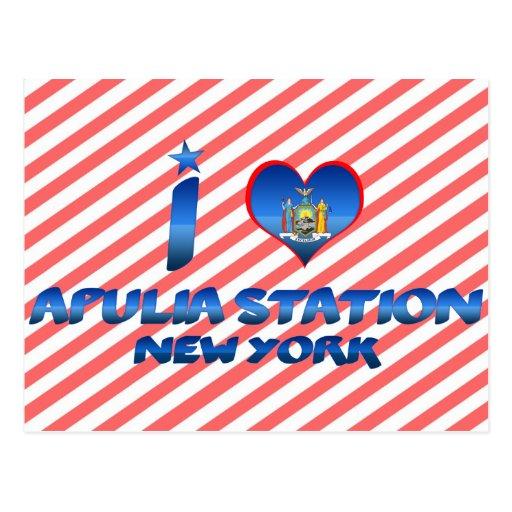 Amo la estación de Apulia, Nueva York Postales