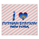 Amo la estación de Putnam, Nueva York Impresiones