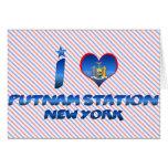 Amo la estación de Putnam, Nueva York Tarjeton