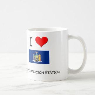 Amo la estación Nueva York de Jefferson del puerto Tazas