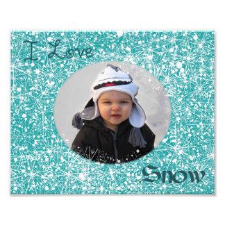 Amo la estera de la foto de la nieve cojinete