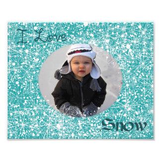 Amo la estera de la foto de la nieve fotografías