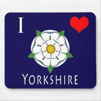 Amo la estera del ratón de Yorkshire Alfombrillas De Ratón