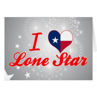 Amo la estrella solitaria, Tejas Tarjetas