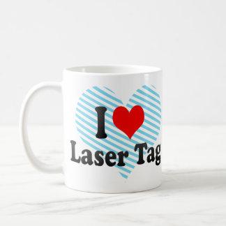 Amo la etiqueta del laser tazas de café