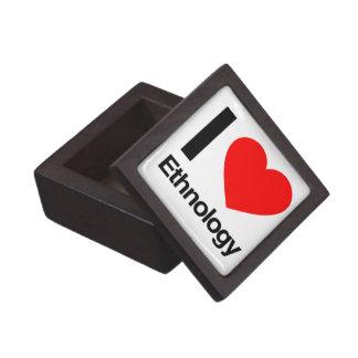 amo la etnología cajas de recuerdo de calidad