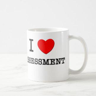 Amo la evaluación taza de café