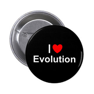 Amo la evolución (del corazón) pin redondo de 2 pulgadas