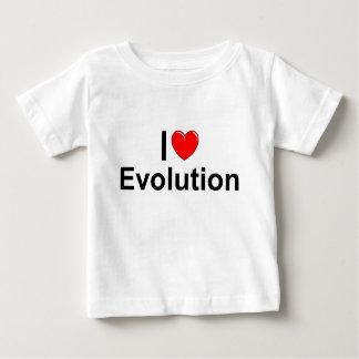Amo la evolución (del corazón) playera para bebé