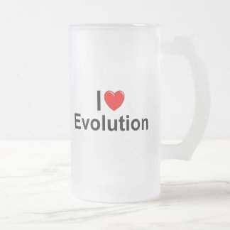 Amo la evolución (del corazón) taza de cristal