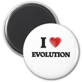 Amo la EVOLUCIÓN Imán Redondo 5 Cm