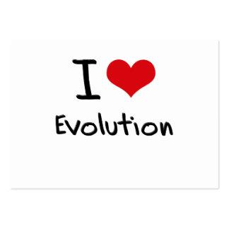 Amo la evolución tarjeta de visita