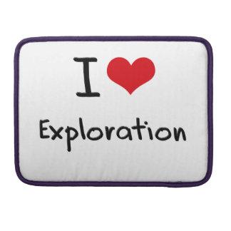 Amo la exploración funda para macbooks