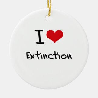 Amo la extinción adorno de navidad