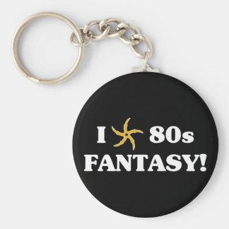 Amo la fantasía 80s llavero redondo tipo pin