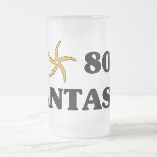 Amo la fantasía 80s taza de cristal