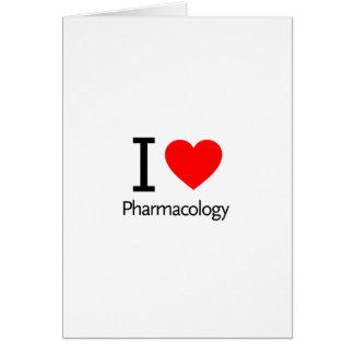 Amo la farmacología tarjeta de felicitación