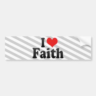 Amo la fe etiqueta de parachoque