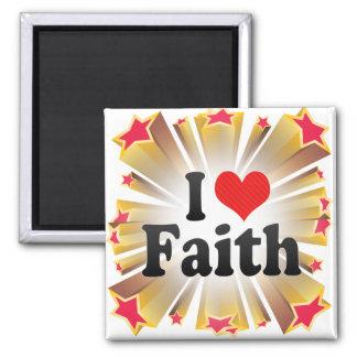 Amo la fe iman para frigorífico