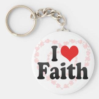Amo la fe llaveros