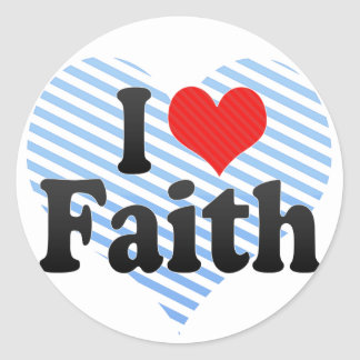 Amo la fe pegatina redonda