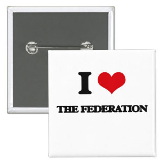 Amo la federación chapa cuadrada 5 cm